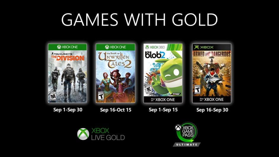 Games with gold septiembre 2020